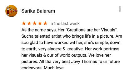 Client reviews, Jovy Thomas
