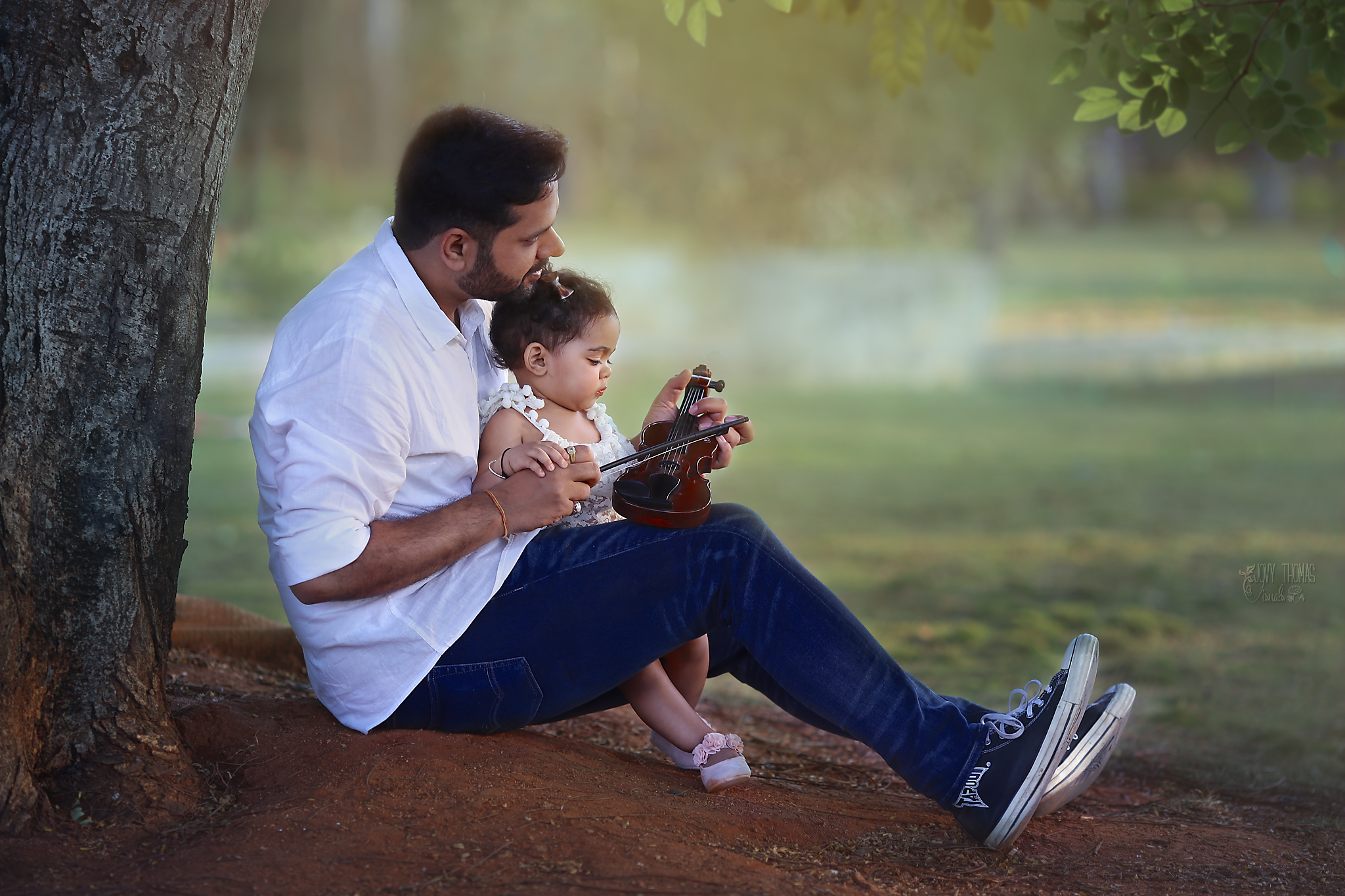 Dad and baby photo session
