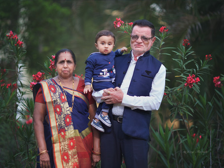 Family session with parents and grandparents of baby (10 month old baby boy)