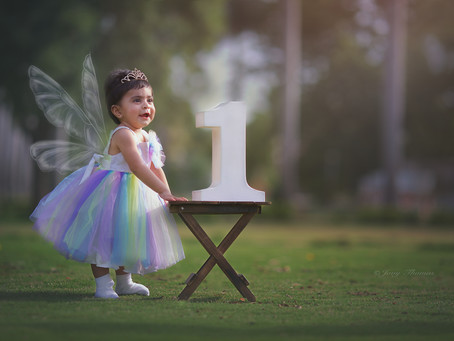 1 year old baby girl- Milestone photo session
