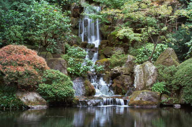 Heavenly falls, Japanese Garden, OR