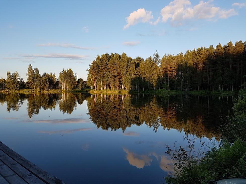 Lake in south of Estonia