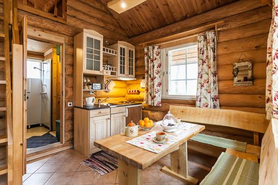 Kitchen corner of Koru Cottage