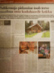 Article about Koru Cottage in the local newspaper