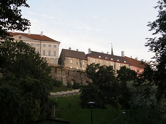 View to the old town of Tallinn
