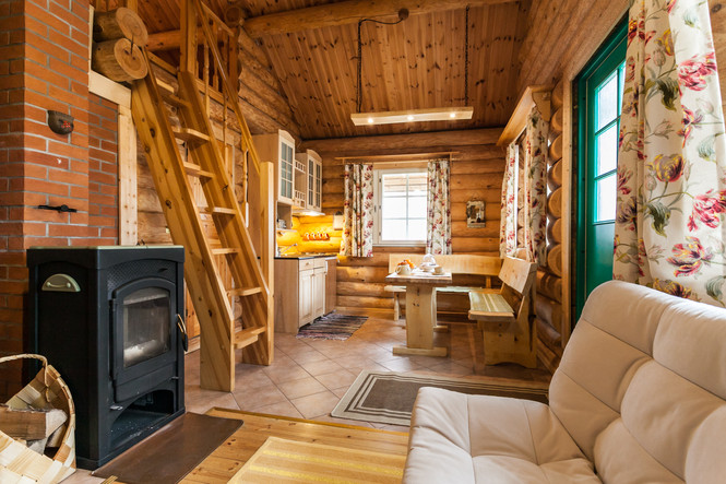 Living- and eatingroom in Koru Cottage