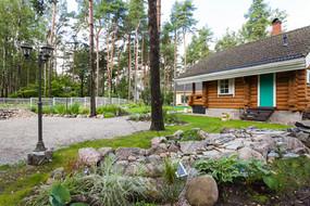 Parking area and Koru Cottage