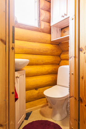 Toilet of Koru Cottage