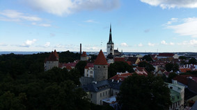 View to old town of Tallinn