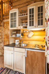 Kitchenette in Koru Cottage