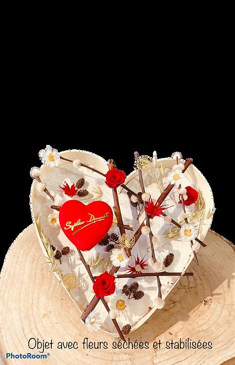 Tableau /Cœur en bois à suspendre