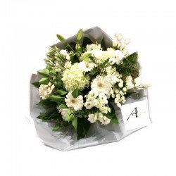 Bouquet rond blanc classique ( photo non contractuel)