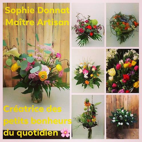 Abonnement  de fleurs pour professionel avec un bouquet confiance