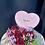 Thumbnail: Boite coeur garni de roses et autres fleurs