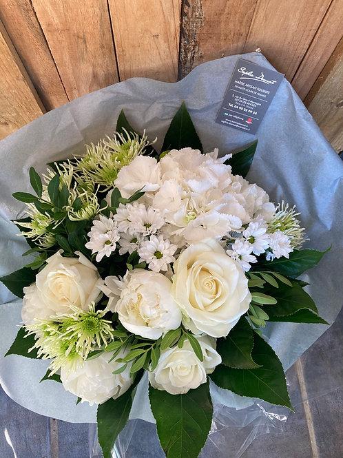 Bouquet de saison blanc/ vert