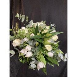 Bouquet bohème blanc  ( photo non contractuel)