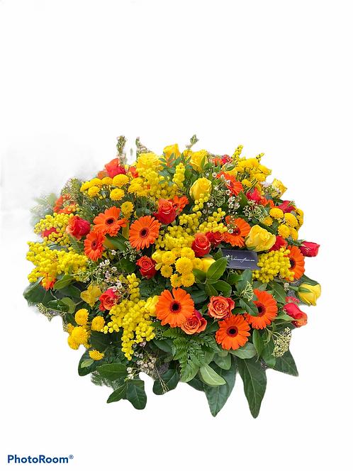 Gros coussin de fleurs