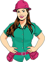illustration of BossLady Contracting owner alex crawfurd