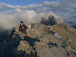 Ha Ling Summit Chinaman's Peak Canmore Alberta Canada Canadian Rockies Hiking