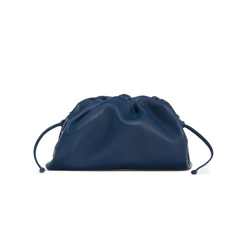 Allure Navy Blue Medium Pouch Bag