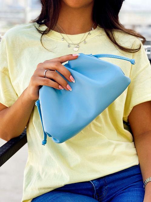 Allure Blue Mini Pouch Bag