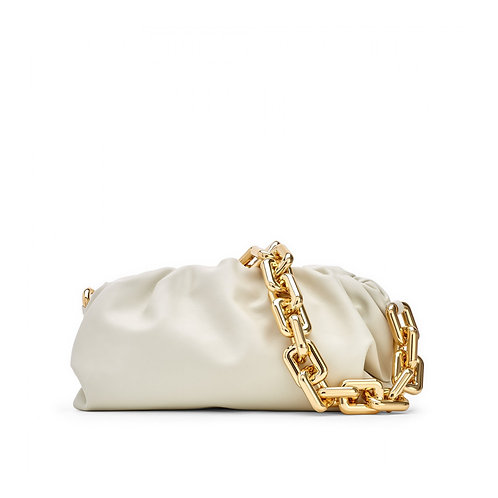 Allure White Chained Pouch Bag