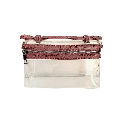 """Allure PVC Dusty Rose """"Ostrica"""" Lined Shoulder Bag"""