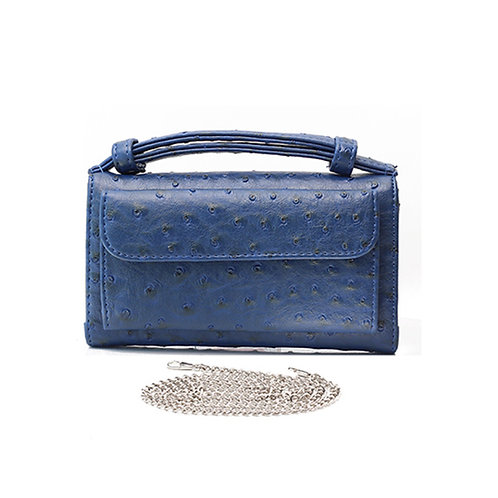 "Allure Navy ""Ostrica"" Wallet On Chain & Clutch Bag"