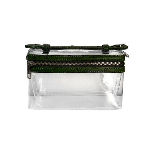 """Allure PVC Green """"Ostrica"""" Lined Shoulder Bag"""