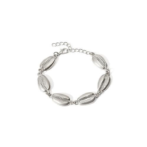 Milanetta Silver Cowrie Seashell Bracelet