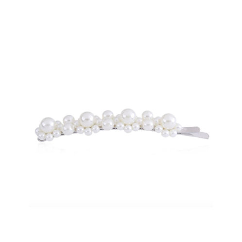 Milanetta Silver Faux Pearl Dotted Bobby Pin