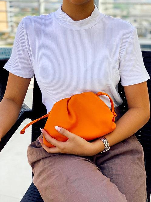 Allure Orange Mini Pouch Bag