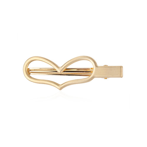 Milanetta Gold Heart Hair Clip