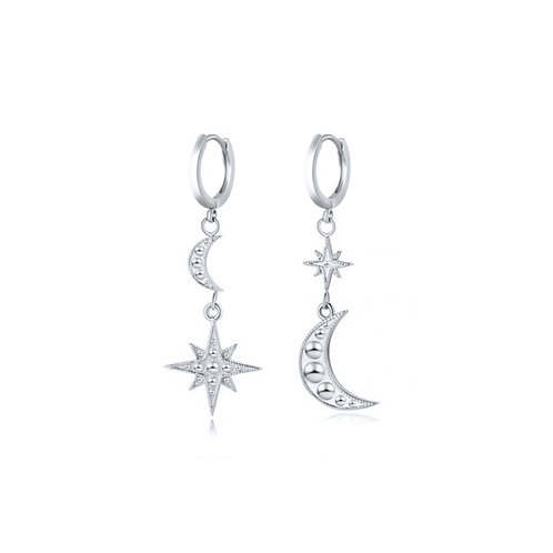 925 Sterling Silver Mismatched Cosmic Earrings