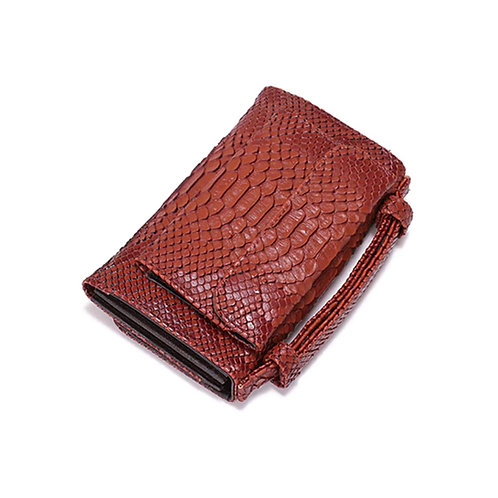 "Allure Brown ""Serpent"" Wallet On Chain Bag"