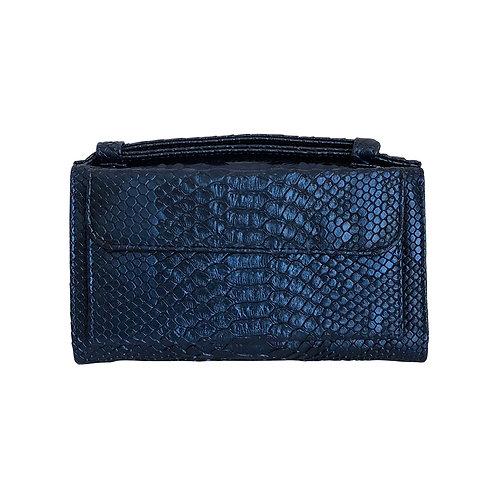 "Allure Sapphire ""Serpent"" Wallet On Chain & Clutch Bag"