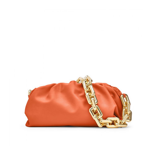 Allure Orange Chained Pouch Bag