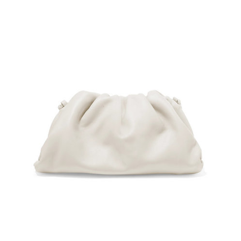 Allure White Medium Pouch Bag