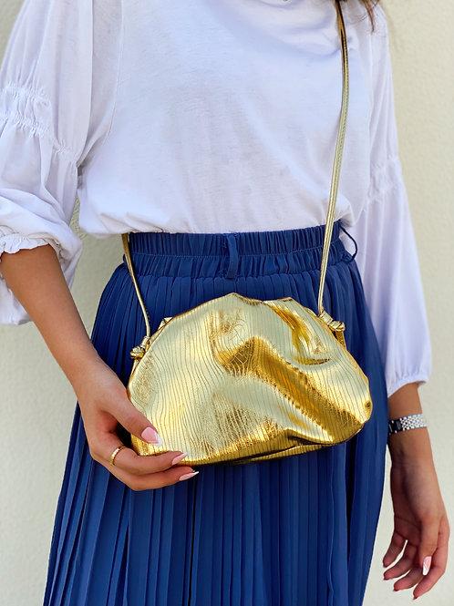 Allure Gold Mini Pouch Bag