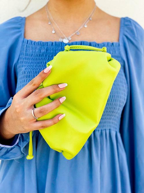 Allure Lime Green Mini Pouch Bag
