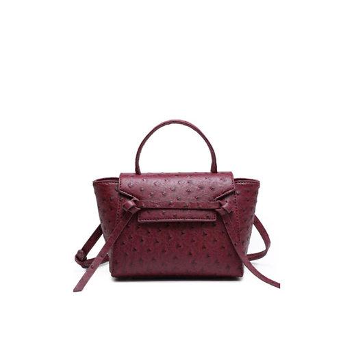 Allure Maroon Ostrica Handbag