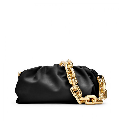Allure Black Chained Pouch Bag