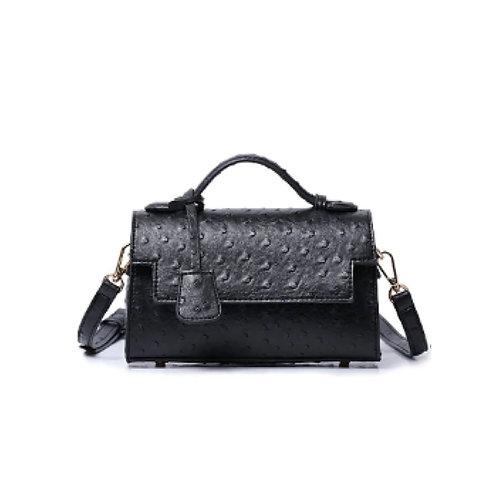 "Allure Black ""Ostrica"" Handbag"