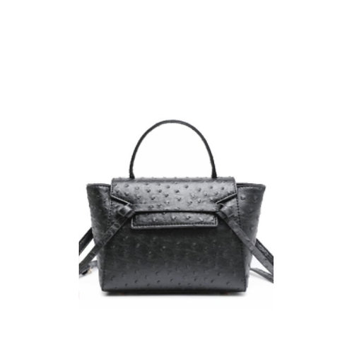 Allure Black Ostrica Handbag