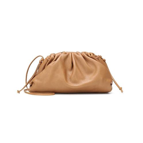 Allure Tan Brown Mini Pouch Bag