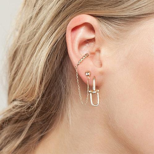 18K Gold Plated Mini Interlocked Earrings