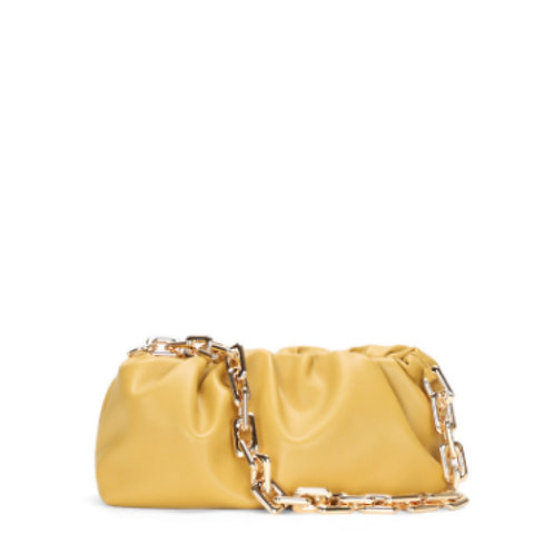 Allure Yellow Chained Pouch Bag