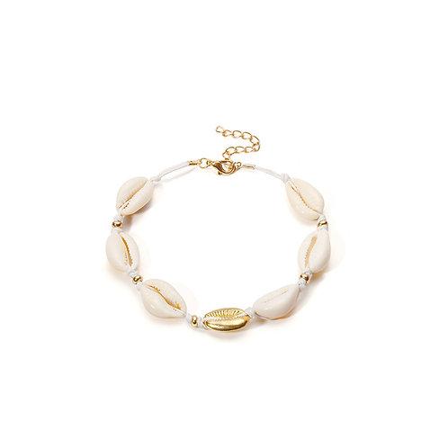 Milanetta Cowrie Seashell & Gold Detail Bracelet