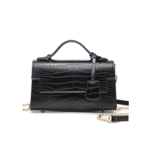 "Allure Black ""Croco"" Handbag"