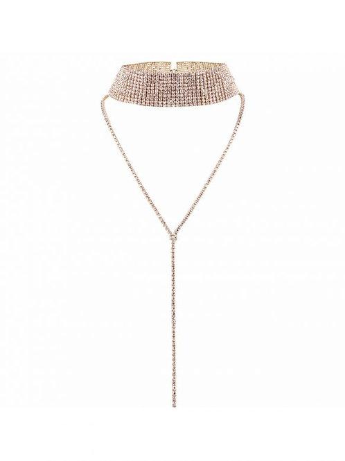 Milanetta Gold Celine Crystal Choker